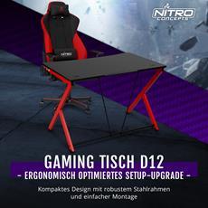 Caseking - Der ergonomische Nitro Concepts D12 Gaming-Tisch