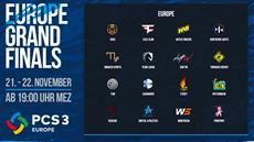 Das letzte Wochenende der PCS3 Europe Grand Finals startet am Samstag