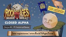 Rock of Ages 3: Make & Break rollt nächsten Monat in die Closed Alpha