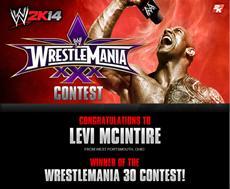 2K w&auml;hlt Gewinner des WrestleMania<sup>&reg;</sup> 30-Wettbewerbs f&uuml;r WWE<sup>&reg;</sup> 2K14