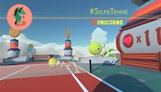 Aufschlag für Devolver Digital auf HTC Vive: #SelfieTennis jetzt bei Steam erhältlich