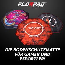 BRANDNEU bei Caseking - Florpad bietet den perfekten Schutz für den Fußboden jedes Gamers.