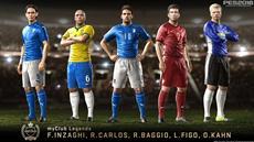 Kahn, Baggio, Carlos, Figo und Inzaghi: Fußball Giganten laufen auf in PES 2016 als myClub Legenden