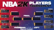 """NBA-Spieler treten im weltweit ersten """"NBA 2K Players Tournament"""" auf ESPN und ESPN2 gegeneinander an"""