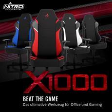 Neu bei Caseking: Die Nitro Concepts X1000 Gaming-Stühle für Office und Gaming!