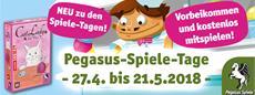 Spielspaß bei den Pegasus-Spiele-Tagen im Fachhandel und den Pegasus-Spiele-Clubtagen