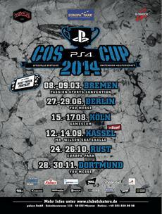 Start der PlayStation 4 COS Cup Serie 2014 ab morgen in Bremen