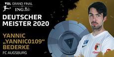 "VBL Grand Final by ING: Yannic ""Yannic0109"" Bederke gewinnt die Deutsche Meisterschaft in EA SPORTS FIFA 20"