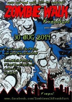 Zombiewalk am 30.08.2014 in Frankfurt am Main